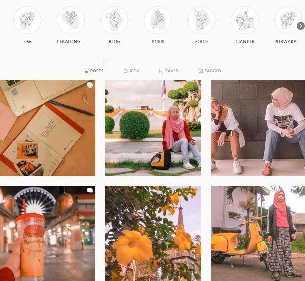 Belajar Atur Feed Instagram dari Berbagai Referensi @prajna_vita