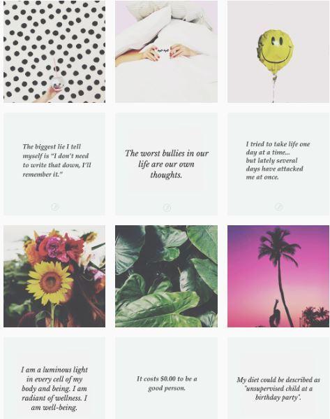 Feed Instagram Gaya Row by Row dari @personaljournalapp