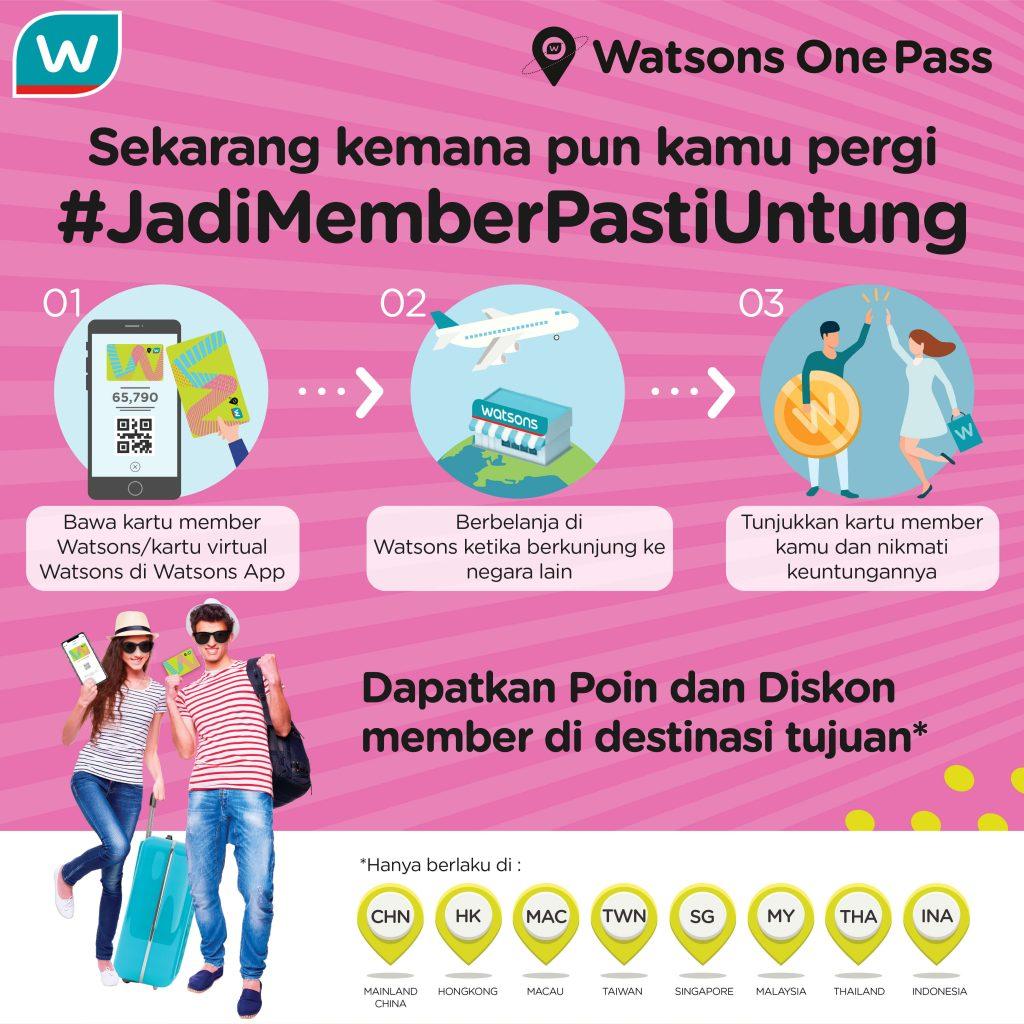 Member One Pass Watsons, Satu Kartu Bisa Dipakai Dimana Aja. Jadi Member Pasti Untung