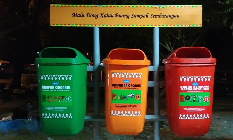 Tong Sampah Dibagi Menjadi Tiga Katagori/Foto: Prajna Vita