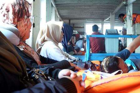 Suasana Kapal Menuju Pulau Harapan/Prajna Vita