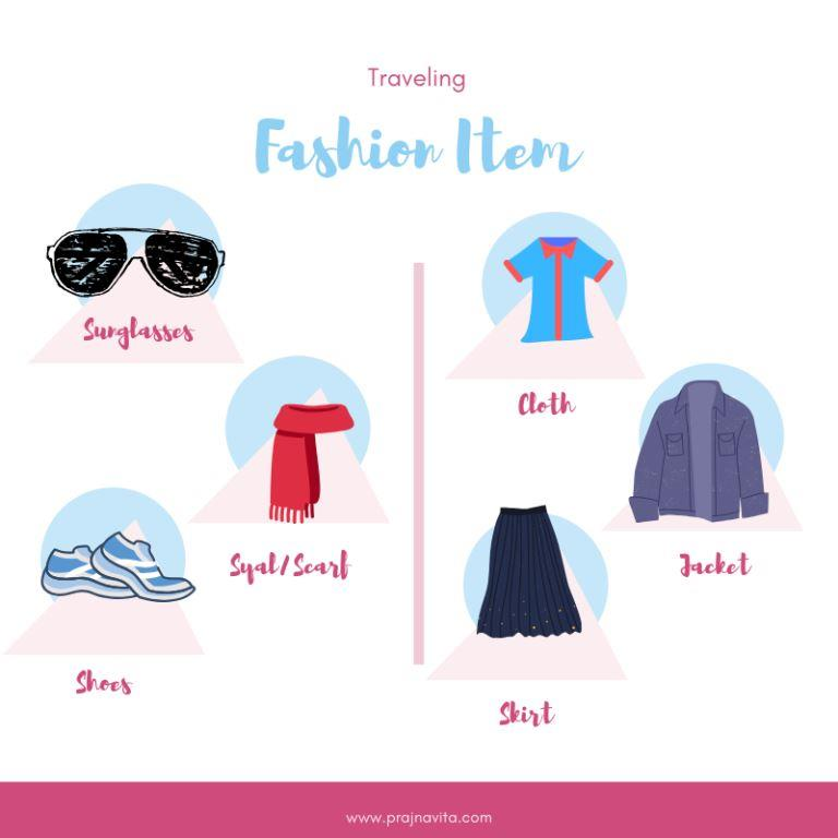 Fashion Item untuk Traveling Makin Kece/Foto: Prajna Vita